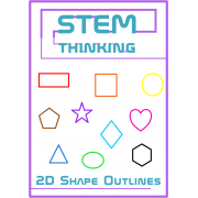 2D Shape Outlines Math Geometry Clip Art- 100 Images